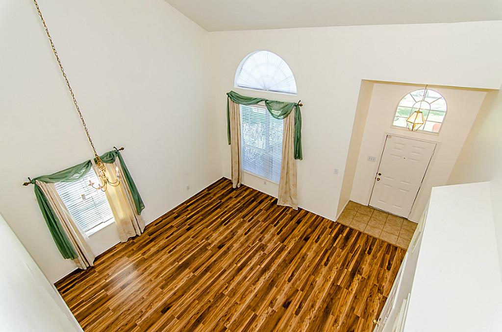 Wood Flooring in Living Room of Richmond, TX Home