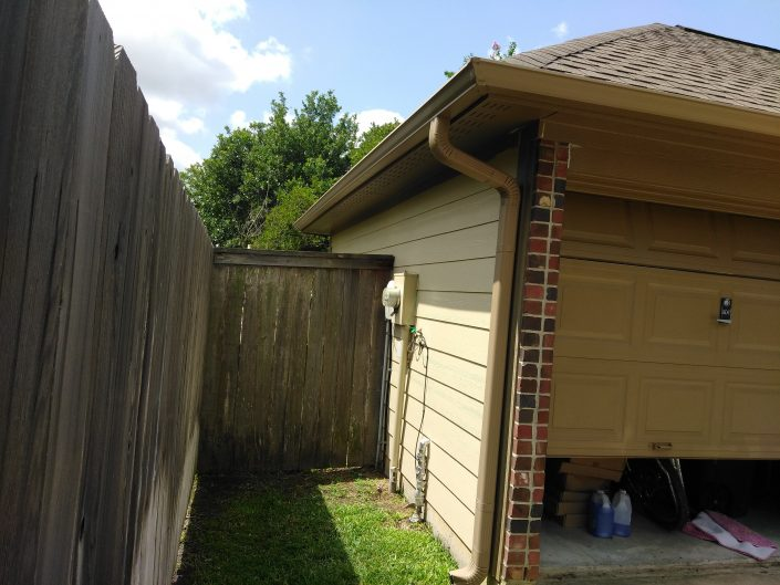 Residence in Cypress, TX Before a Complete Residential Repaint.