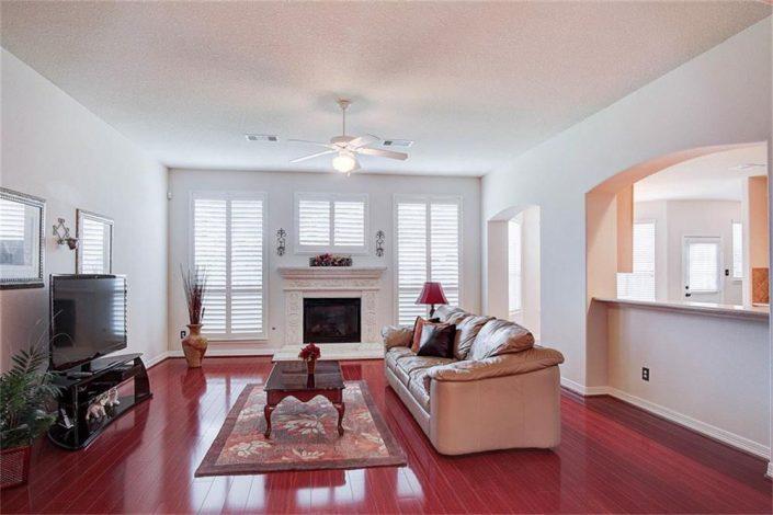 Living Room Interior Paint Job in Cypress, TX