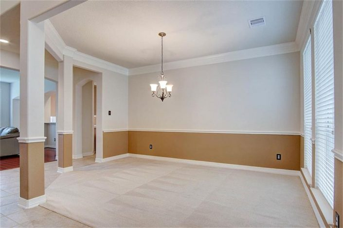 Fresh Paint Job and Baseboard Upgrate of Interior Living Room in Cypress, TX