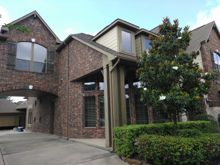 Dull Exterior of Residence in Cypress, TX Before Complete Repaint