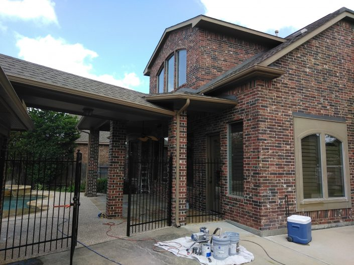 Before a Complete Repaint of Residence in Cypress, TX
