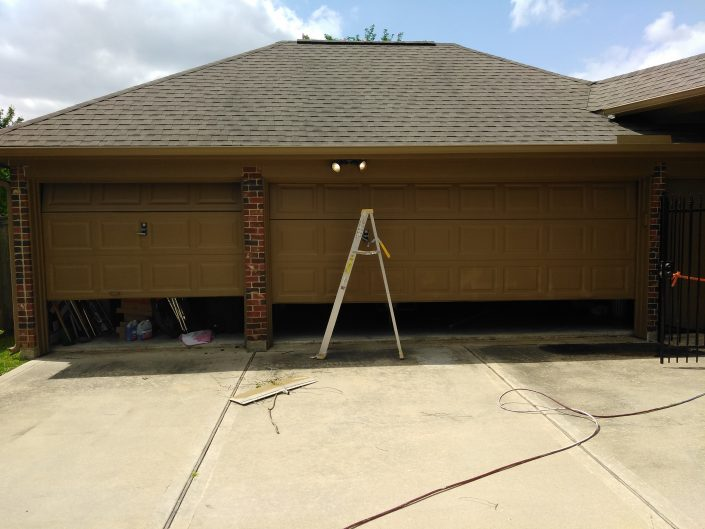 Before Shot of Complete Residential Repaint of Garage in Cypress, TX