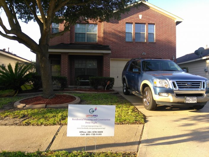 Exterior Painting on Home in North Katy, TX.
