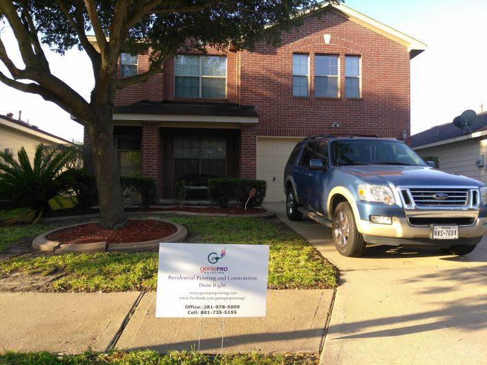 Exterior Paint Job of North Katy, TX Neighborhood Home
