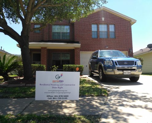 Final Product of Exterior Paint Job on North Katy, TX Home